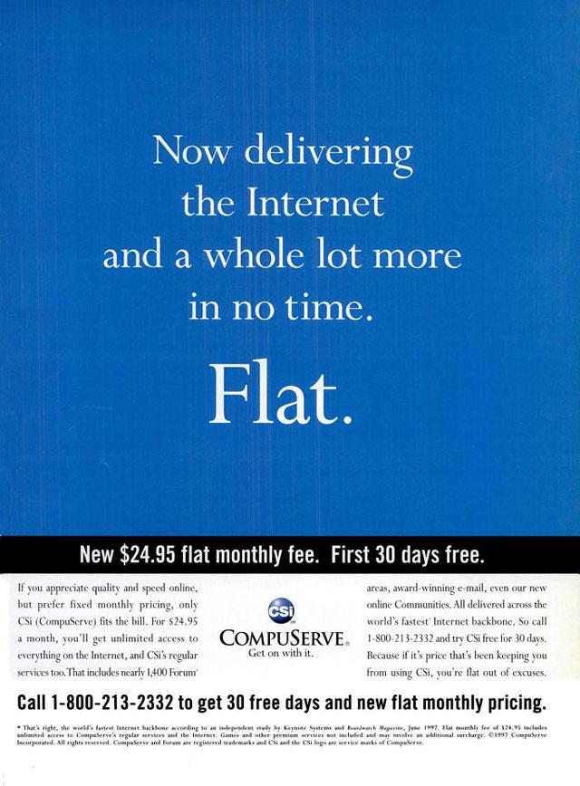 Vintage CompuServe advertisement (1998)