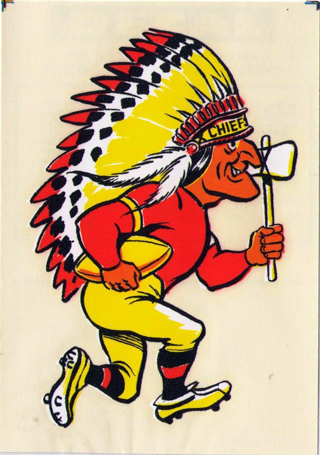 Vintage 1969 AFL/NFL Team Mascot Decal - Kansas City Chiefs