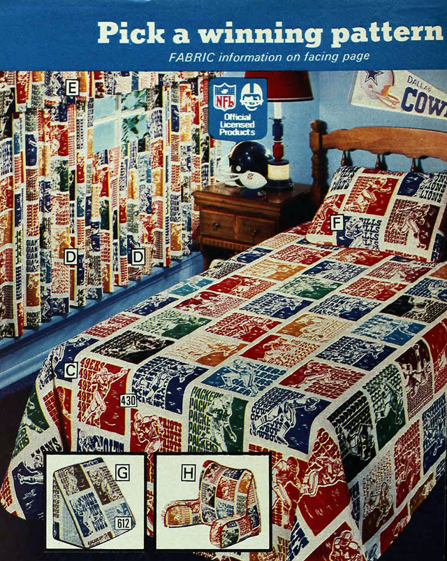 National Football League (NFL) sheets, Sears 1977 spring catalog