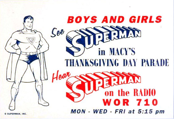 Superman 1940 Macy's Thanksgiving Day Parade ad