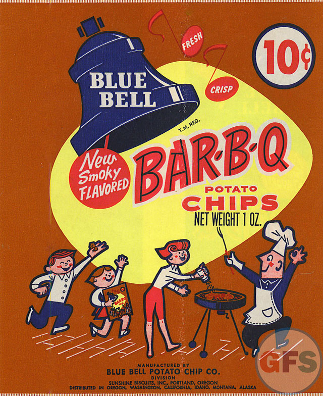 Blue Bell Bar-B-Q Potato Chips bag
