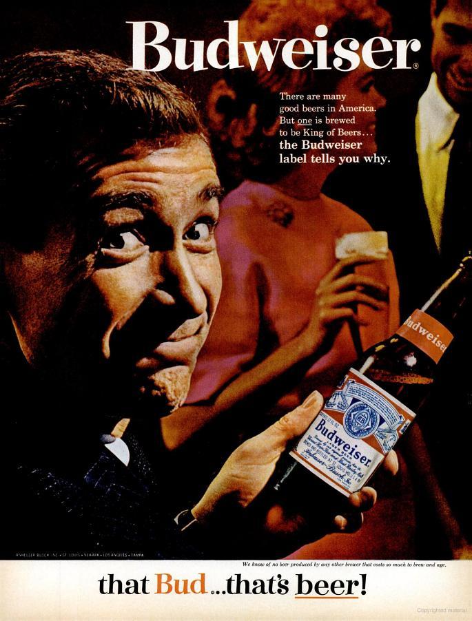 Budweiser ad, 1964