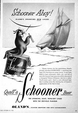 Schooner Beer ad