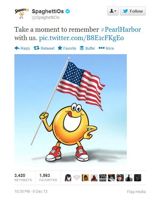 SpaghettiOs Pearl Harbor Twitter