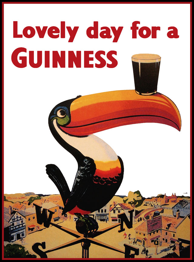 vintage Guinness toucan ad
