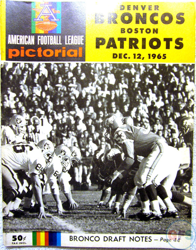Boston Patriots at Denver Broncos — December 12, 1965