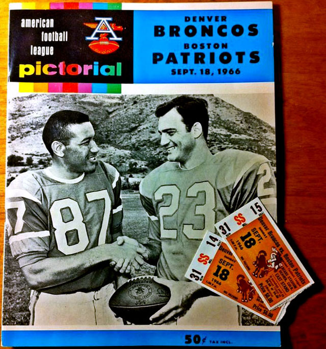 Boston Patriots at Denver Broncos — September 18, 1966