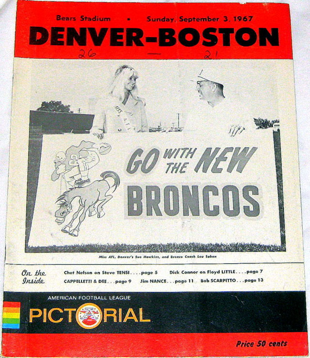 Boston Patriots at Denver Broncos — September 3, 1967
