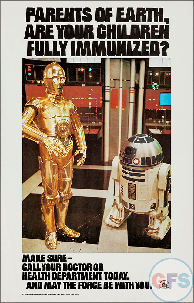 Star Wars Pro-Immunization Poster (1977)