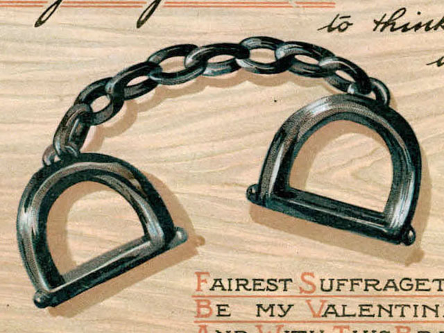 A Pair of Suffragette Valentine's Day Cards