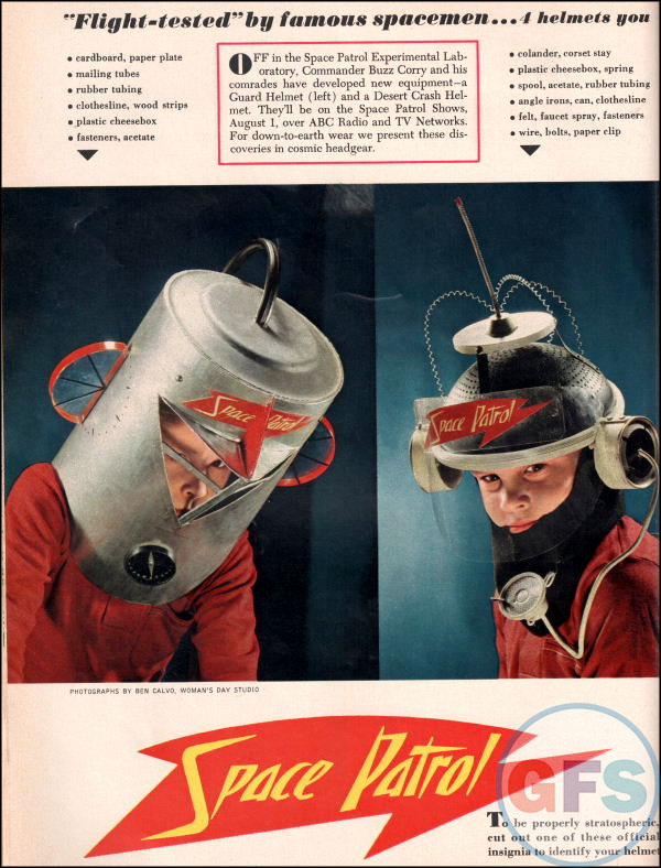 Space Patrol helmet instructions
