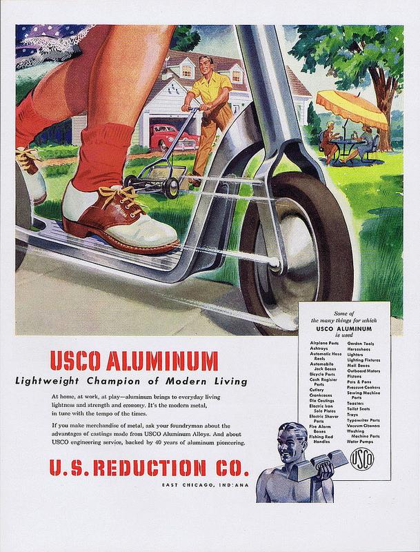 USCO Aluminum print ad, 1947