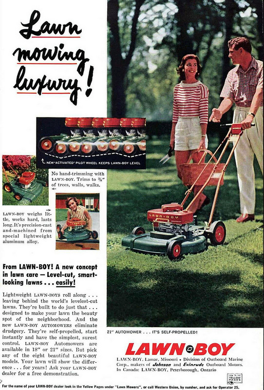Lawn Boy print ad, c. 1950s