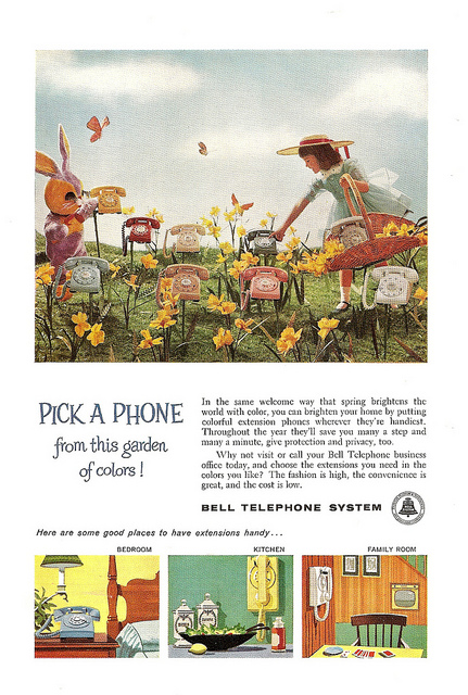 Bell Telephone System print ad, 1960