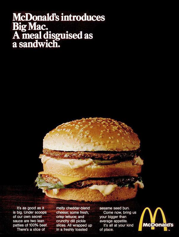 McDonald's Big Mac ad (1969)