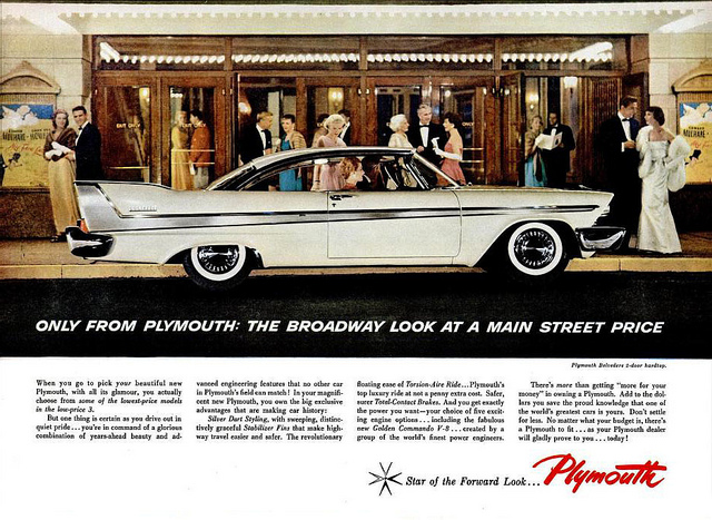 Plymouth ad, 5-19-58 feat. the Belvedere