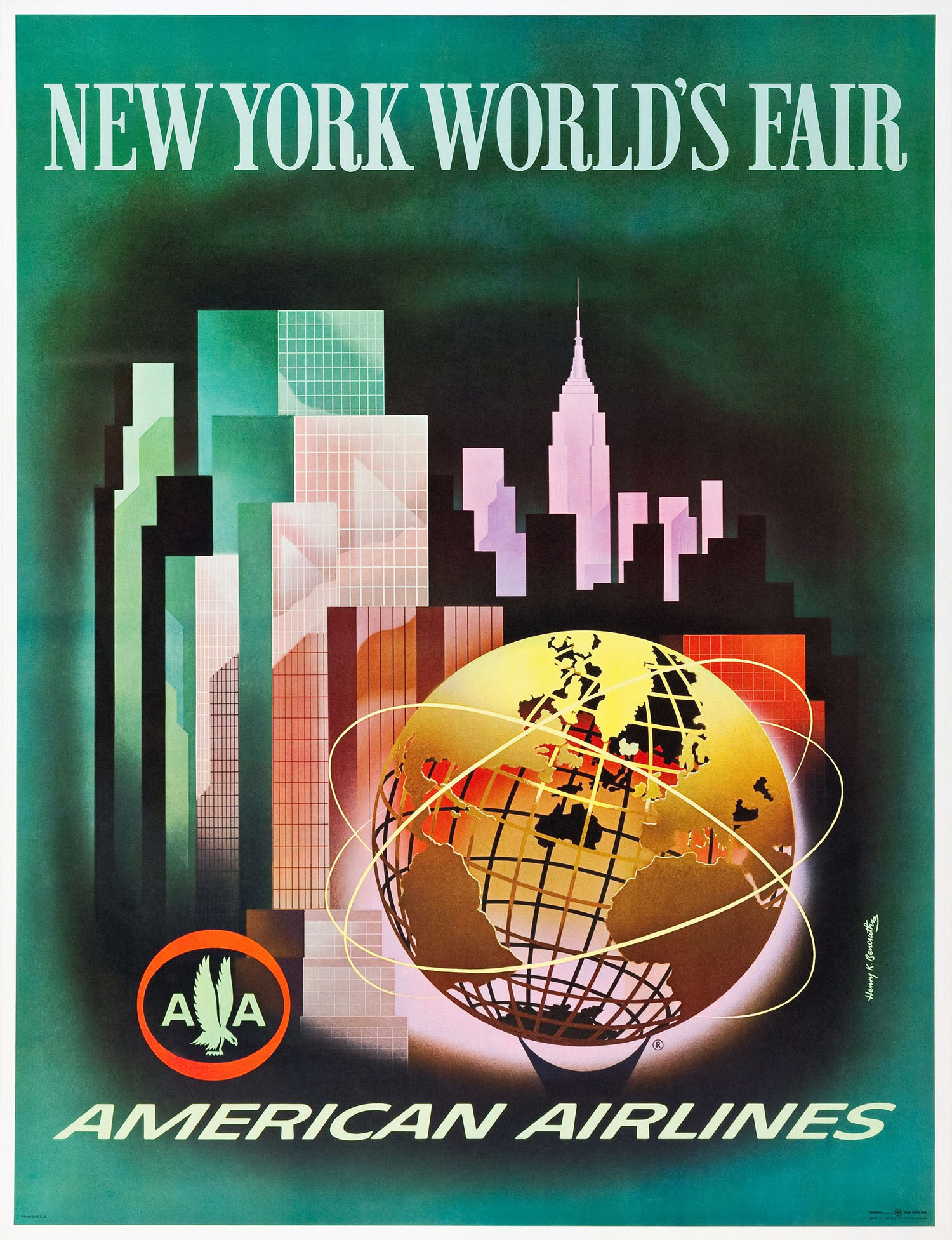 American Airlines 1964-65 World's Fair Poster