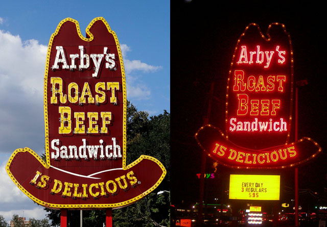 Arby's sign logo (1964 - 1975)