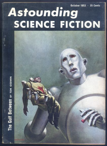 Astounding Science Fiction (October 1953) feat. artwork by Frank Kelly Freas