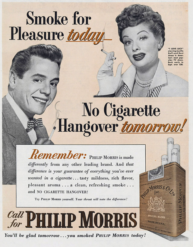 Celebrity Smoking Ad - Lucille Ball and Desi Arnaz