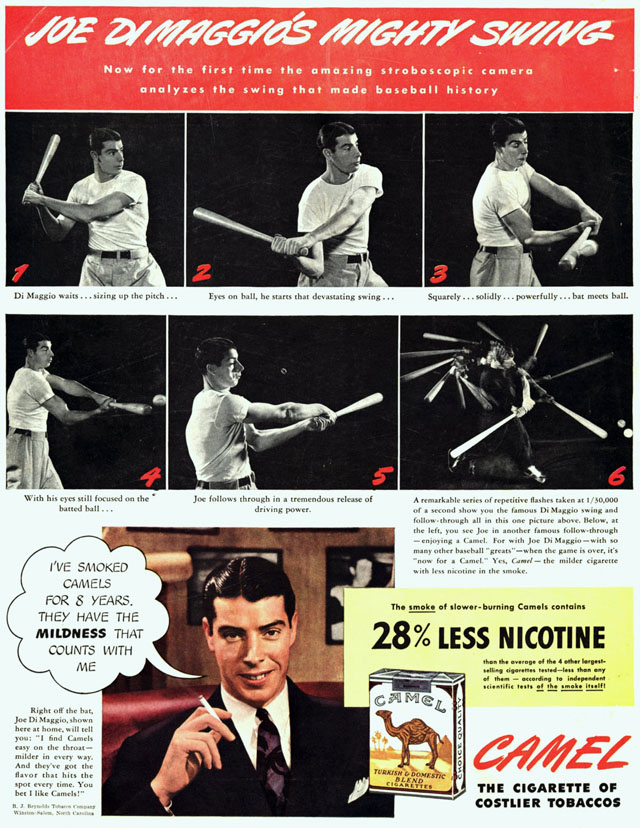 Celebrity Smoking Ad - Joe DiMaggio for Camel, 1941