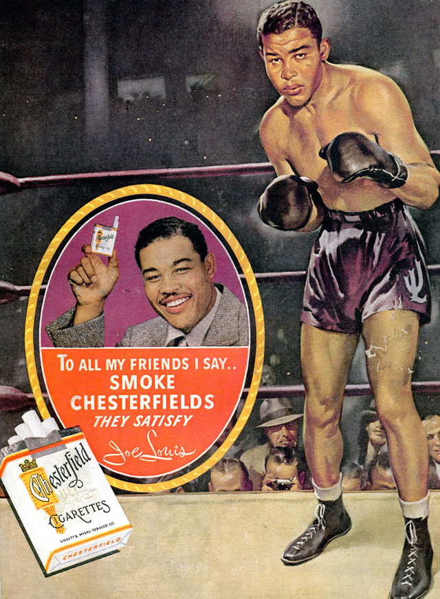 Celebrity Smoking Ad - Joe Louis for Chesterfield, 1944
