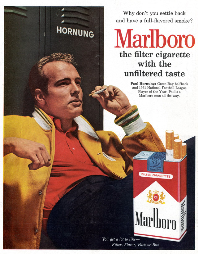 Celebrity Smoking Ad - Paul Hornung for Marlboro, 1962