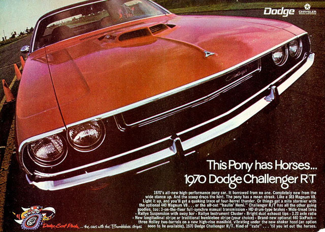 1970 Dodge Challenger R/T ad