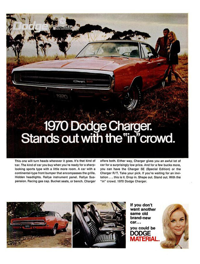 1970 Dodge Charger ad