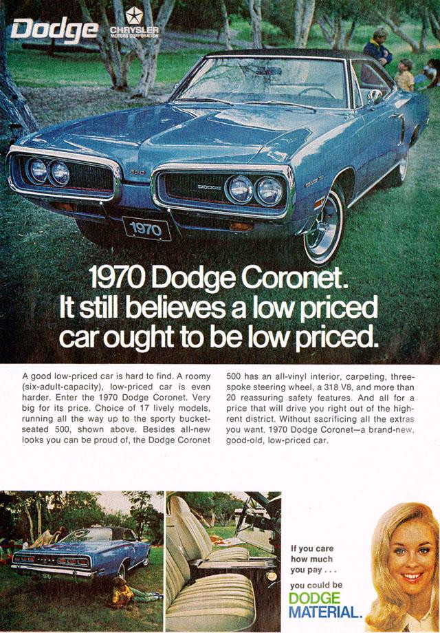 1970 Dodge Coronet ad