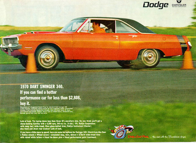 1970 Dodge Dart Swinger 340 ad
