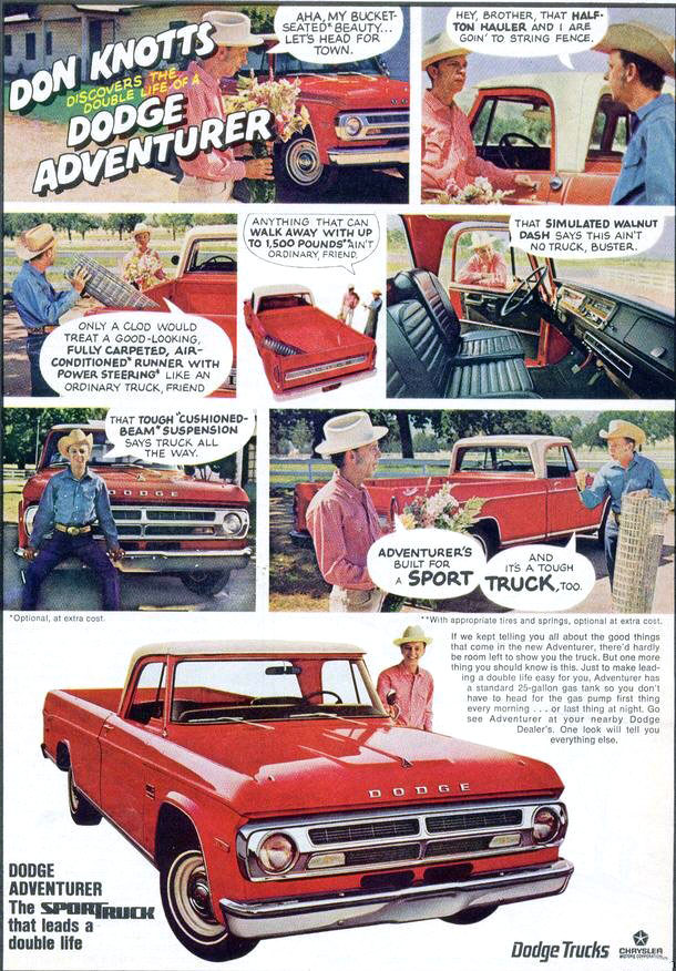 1970 Dodge Adventurer Sportruck ad