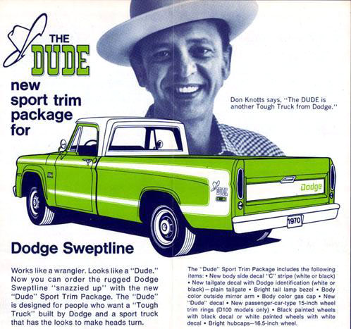 1970 Dodge Sweptline Dude ad