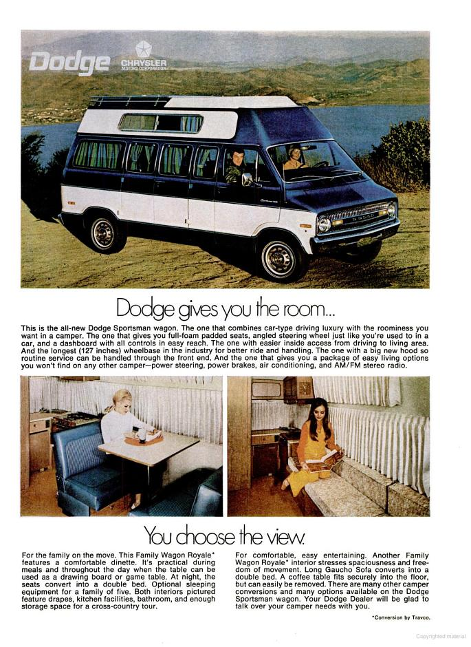 Dodge Sportsman Van Ad on Old Dodge Truck 4 Door