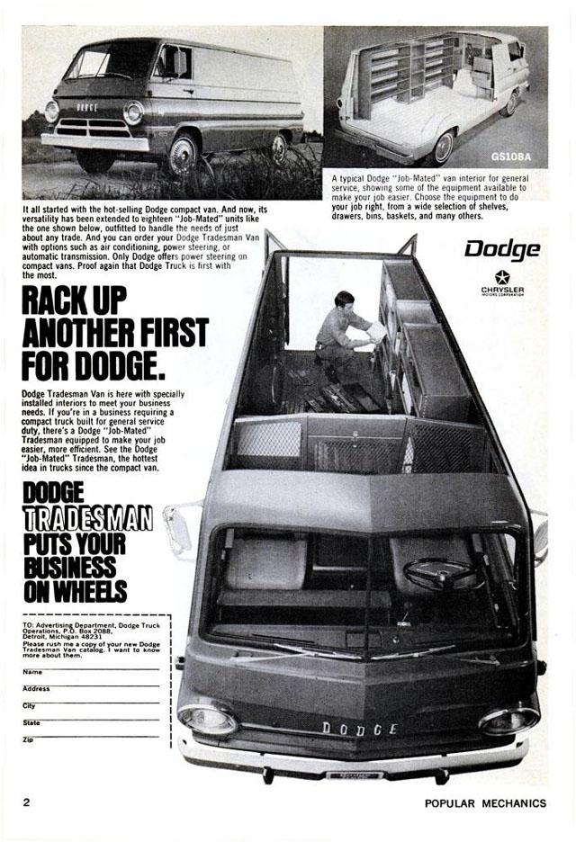 1970 Dodge Tradesman van ad