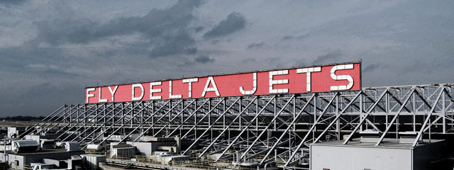 Fly Delta Jets sign