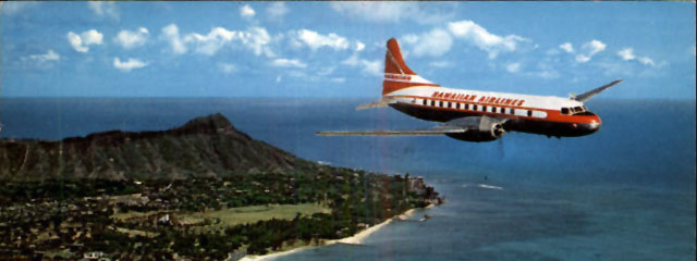 Hawaiian Airlines plane, c. 1950s