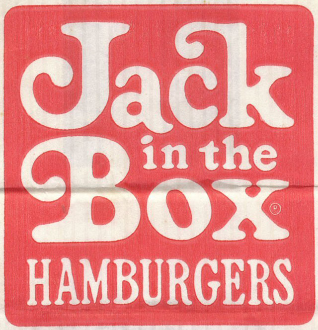 Jack in the Box logo, early 1970s