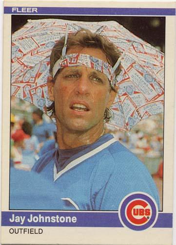Jay Johnstone 1984 Fleer baseball card