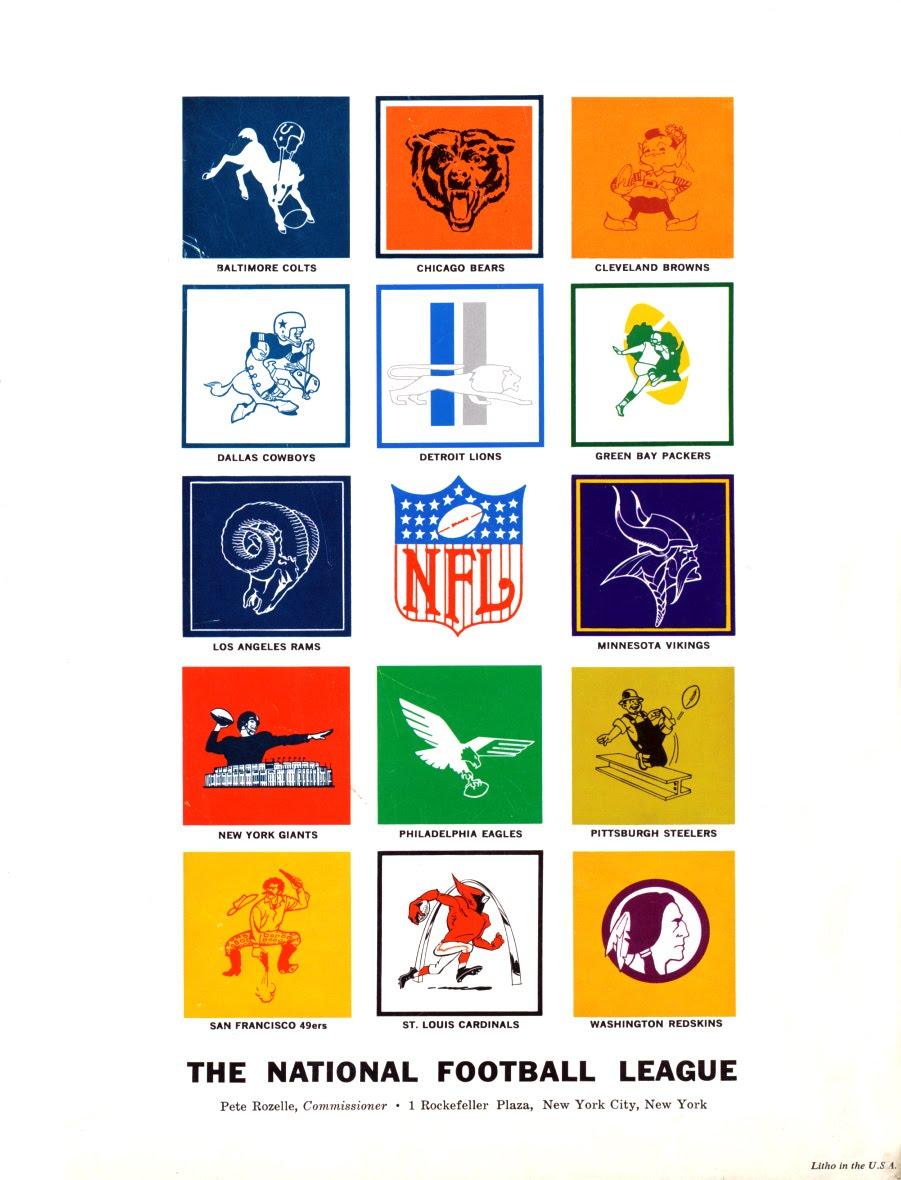 NFL logos, 1964