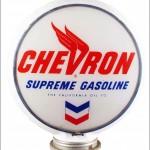 Chevron Supreme vintage gas pump globe