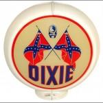 Dixie vintage gas pump globe