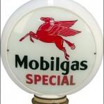 Mobilgas Special vintage gas pump globe