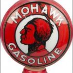 Mohawk Gasoline vintage gas pump globe