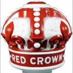 Red Crown vintage gas pump globe