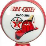 Texaco Fire Chief vintage gas pump globe