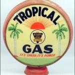Tropical Gas vintage gas pump globe