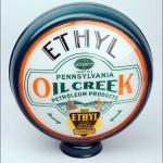 Oil Creek Ethyl vintage gas pump globe
