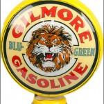 Gilmore Gasoline vintage gas pump globe