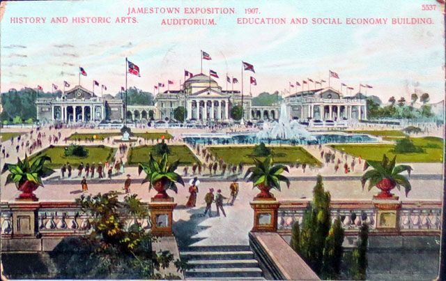 Vintage World's Fair postcard - Jamestown Exposition (1907)